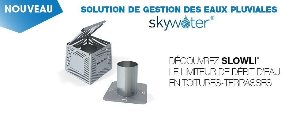 SOPREMA a développé SLOWLI®, le limiteur de débit d'eaux pluviales pour les toitures terrasses.