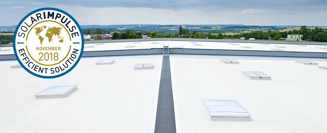 "La solution d'étanchéité Cool Roof de SOPREMA labellisée ""Efficient solution"" !"