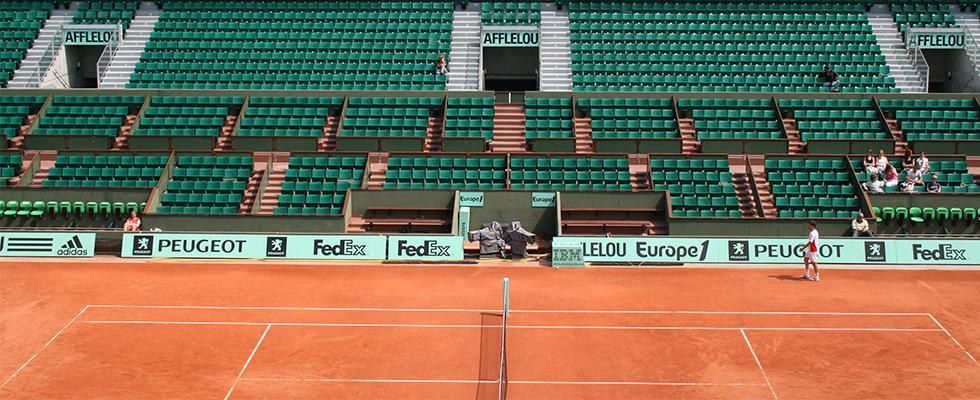 Les gradins du stade Roland-Garros