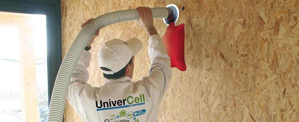 La mise en œuvre de la ouate de cellulose UniverCell®
